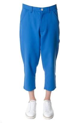 Comme des Garcons Male Turquoise Cotton Pants