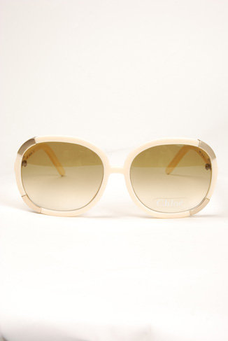 Chloe Oversized Sunglasses - Cream