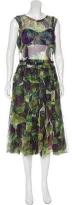 Dolce & Gabbana Silk Printed Dress w/ Tags