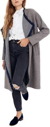 Madewell Fringe Herringbone Robe Coat