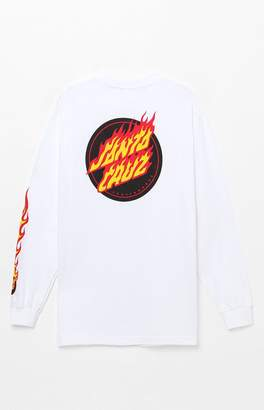 Santa Cruz Flaming Dot Long Sleeve T-Shirt