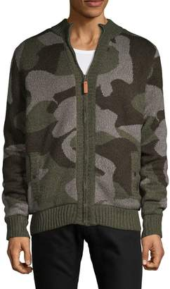 Buffalo David Bitton Textured Camouflage Sweater