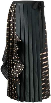 Antonio Marras asymmetric polka dot skirt
