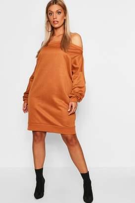 boohoo Plus Off The Shoulder Sweat Dress