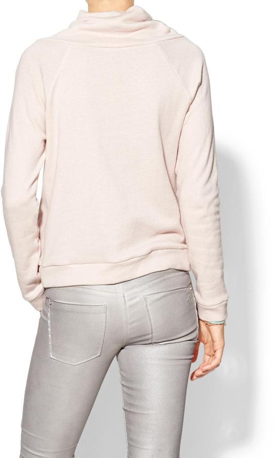 Vix Swimwear Hive & Honey Pop Tie Funnel Neck Sweatshirt