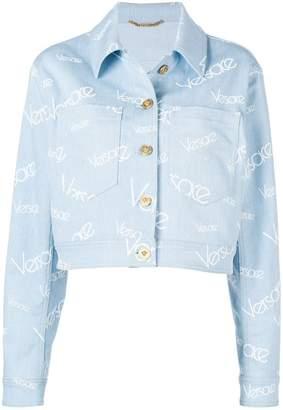 Versace vintage logo denim jacket