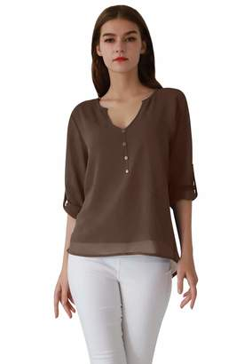 Soft Surroundings OMZIN Ladies Full Sleeve Slim Baggy Perfect Shirt Stylish Tunics Wear ,XS