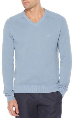 Original Penguin Pique V-Neck Sweater (Big & Tall)