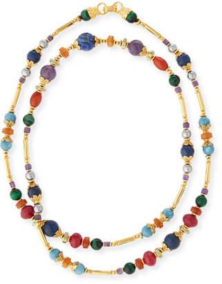 Jose & Maria Barrera Long Beaded Stone Necklace