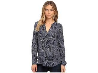 Velvet by Graham & Spencer Adal Long Sleeve Peasant Shirt Women's Clothing