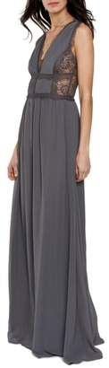 Heartloom Charlee V-Neck Chiffon Gown