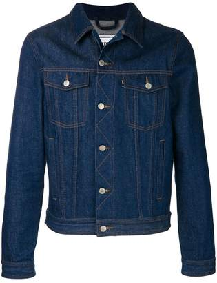 Ami Alexandre Mattiussi Denim Jacket With Ami Paris Patch