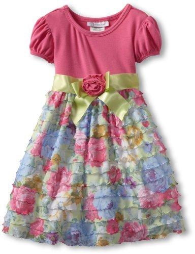 Bonnie Jean Girls 2-6X Solid To Print Dress