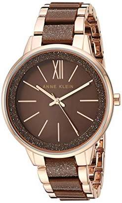 Anne Klein Women's AK/1412RGBN Rose Gold-Tone and Brown Shimmer Bracelet Watch