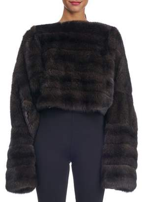 Michael Kors Oversized Sable Fur Pullover