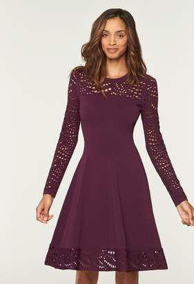 MillyMilly Lace Pointelle Flare Dress