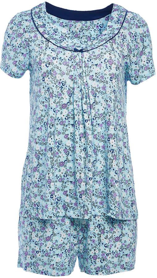 Purple & Blue Floral Pajama Set - Women & Plus