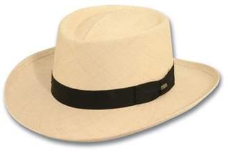 Dorfman Pacific Scala Men's Panama Gambler Hat