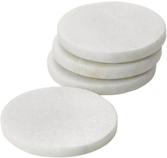 Torre & Tagus Marble Coasters Round Set Of Four