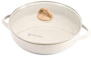 4.75qt Speckled Low Casserole Pan With Lid