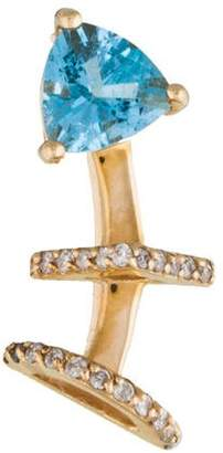 Paige Novick Phyne by 14K Topaz & Diamond Ear Climber