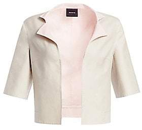 Akris Women's Aloe Reversible Short Sleeve Cotton Jacket