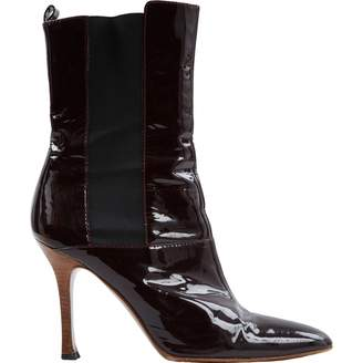 e3a4652928444 Dolce & Gabbana Burgundy Patent leather Boots