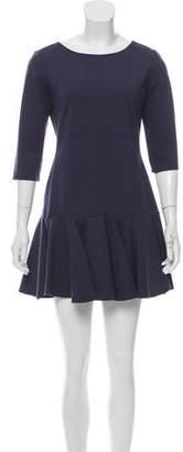 Halston Pleat-Accented Mini Dress