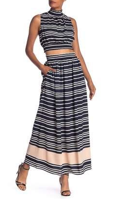 Rachel Roy Sunset Striped Maxi Skirt