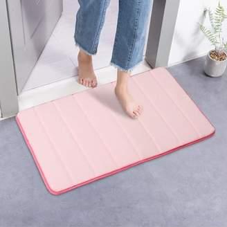 +Hotel by K-bros&Co ONLINE 32''x20'' Non-slip Absorbent Memory Foam Bath Mat Soft Comfortable Bathroom Bedroom Kitchen Dorm Floor Shower Rug Carpet Mat Home Hotel Decal 80x50cm