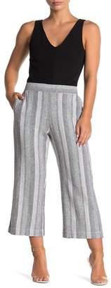 Caslon Striped Linen Blend Gaucho Pants (Regular & Petite)