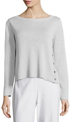 Eileen Fisher Organic Linen Top w/ Side Buttons, Petite $168 thestylecure.com