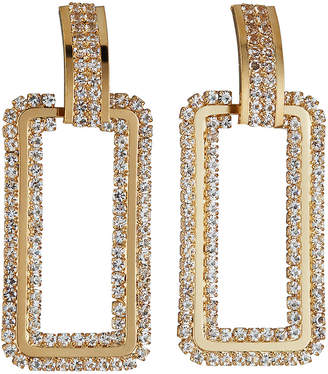 Natasha Accessories Limited Rectangular Door-Knocker Earrings