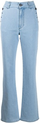 See by Chloe side button flared jeans