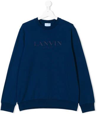 Lanvin Enfant logo print sweatshirt