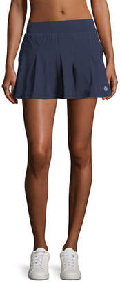 Tory Sport Pleated Jersey Mini Skirt