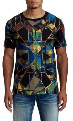 True Religion MENS METALLIC STAINED GLASS GRAPHIC TEE