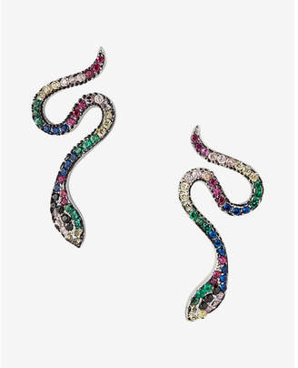 Express Pave Snake Stud Earrings $24.90 thestylecure.com