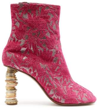 Vetements Geisha Split Toe Coin Heel Ankle Boots - Womens - Pink