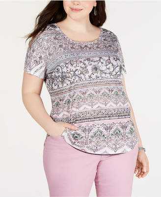 Style&Co. Style & Co Plus Size Printed T-Shirt