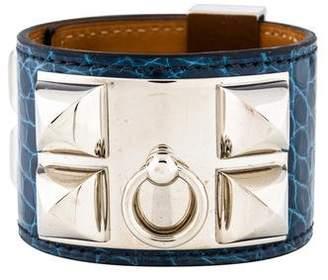 Hermes Alligator Collier de Chien Bracelet