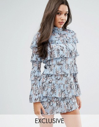 Missguided Plisse Ruffle Floral Mini Dress $87 thestylecure.com