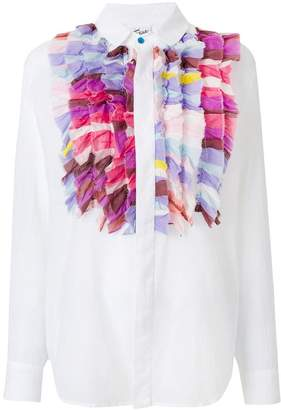 Michel Klein ruffled bib shirt