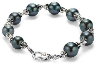 Lagos 18K Gold and Sterling Silver Luna Cultured Tahitian Pearl Bracelet