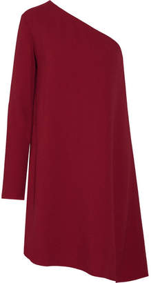 Theory Sintsi One-shoulder Crepe Mini Dress - Claret