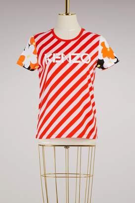 Kenzo Striped floral cotton T-shirt