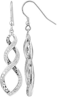 Lois Hill Silver 0.25 Ct. Tw. Diamond Drop Earrings