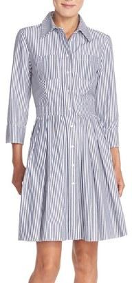 Women's Eliza J Stripe Cotton Shirtdress $138 thestylecure.com