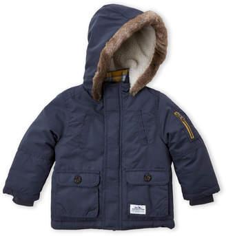 Carter's Infant Boys) Slate Faux Fur Trim Hooded Parka