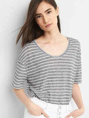 Gap Short Sleeve Linen Volume T-Shirt